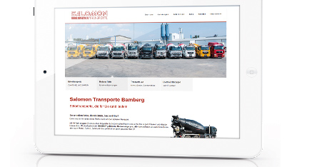 Neue Website Betontransporte Salomon
