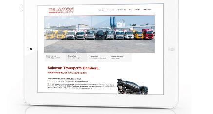 Neue Website Betontransporte Salomon